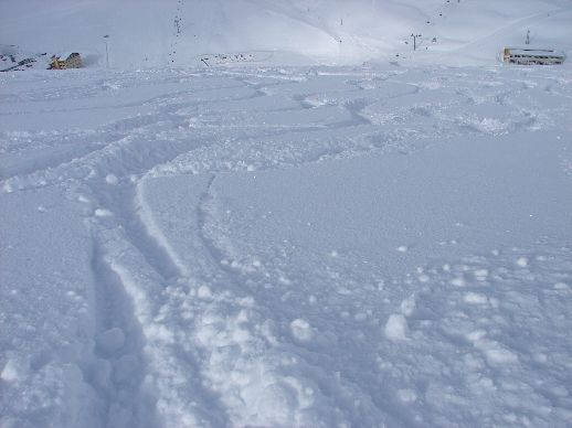 Kuhtai powder  tracks